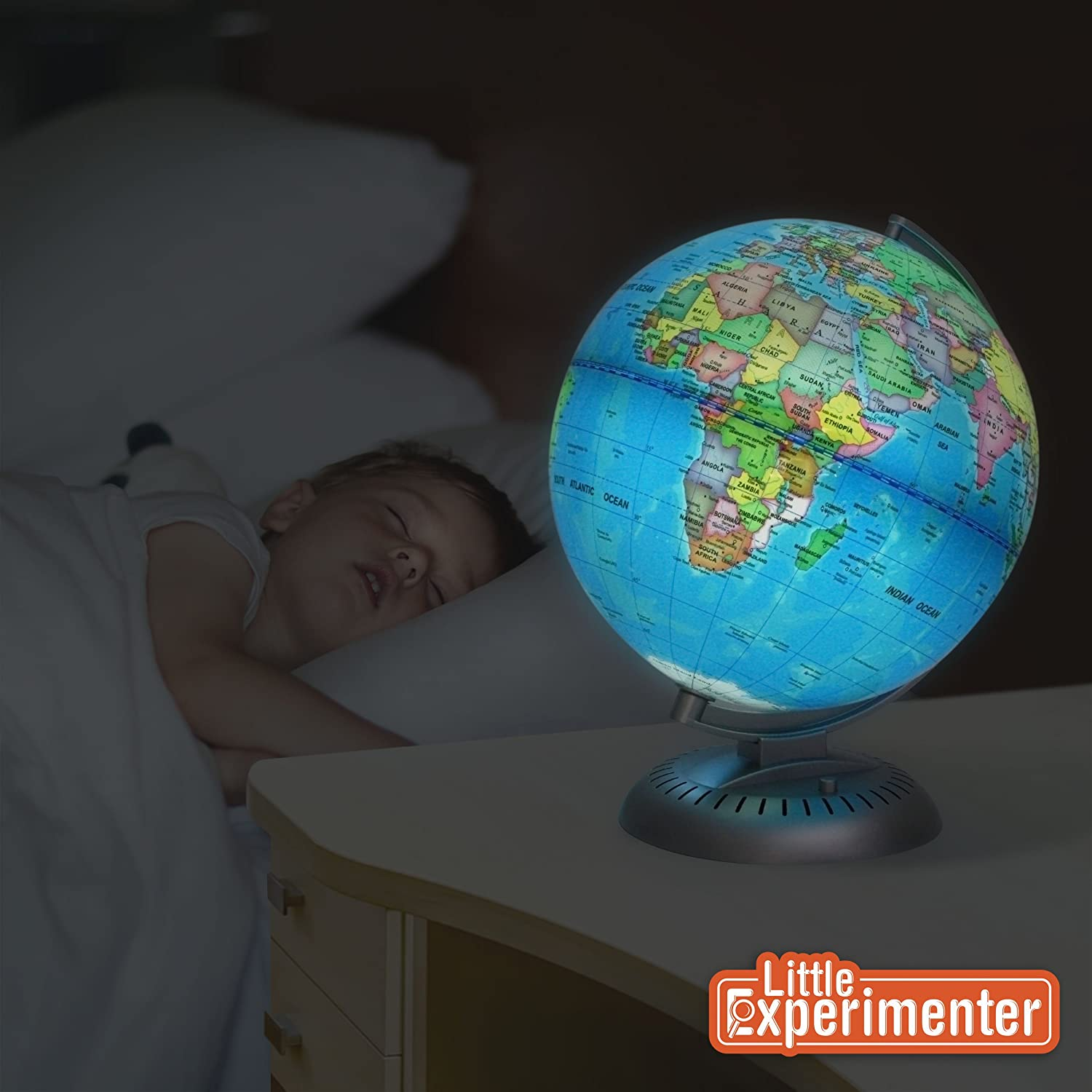Amazon illuminated world globe for kids with standbuilt in amazon illuminated world globe for kids with standbuilt in led for illuminated night view office products gumiabroncs Image collections