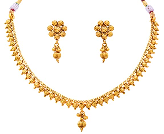 prices gold less amazon one dp jfl buy low india in jewellery plated traditional online delicate necklace for ethnic set women at gram