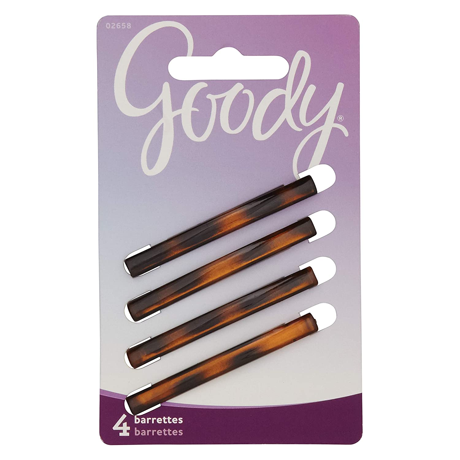 Goody Hair Classics Stay Tight Hair Barrette Mock Tort, 4 Count