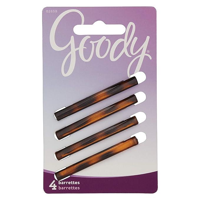 Amazon.com : Goody Hair Classics Stay Tight Hair Barrette Mock Tort, 4 Count : Hair Barrettes : Beauty