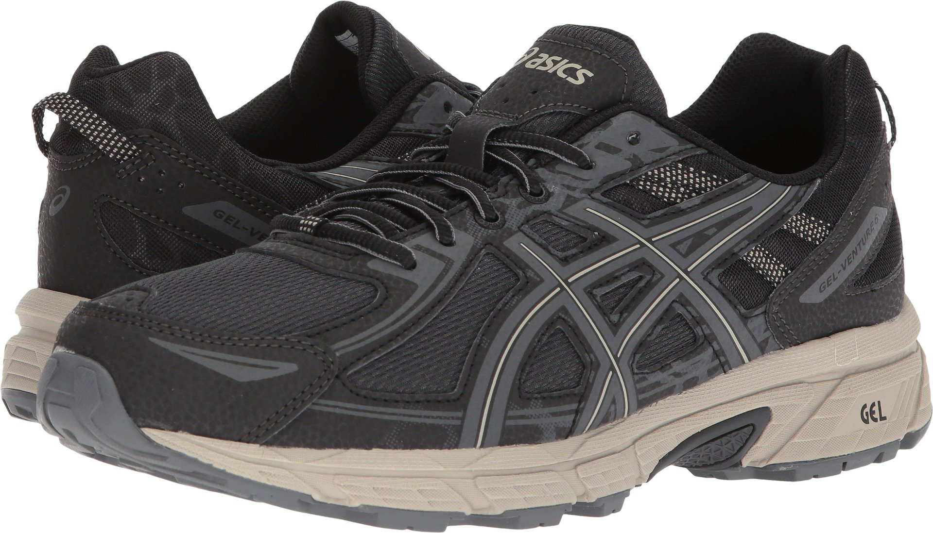 8f5daac51d8 Asics Men s Gel-Venture 6 Black Dark Grey Feather Ankle-High Running Shoe
