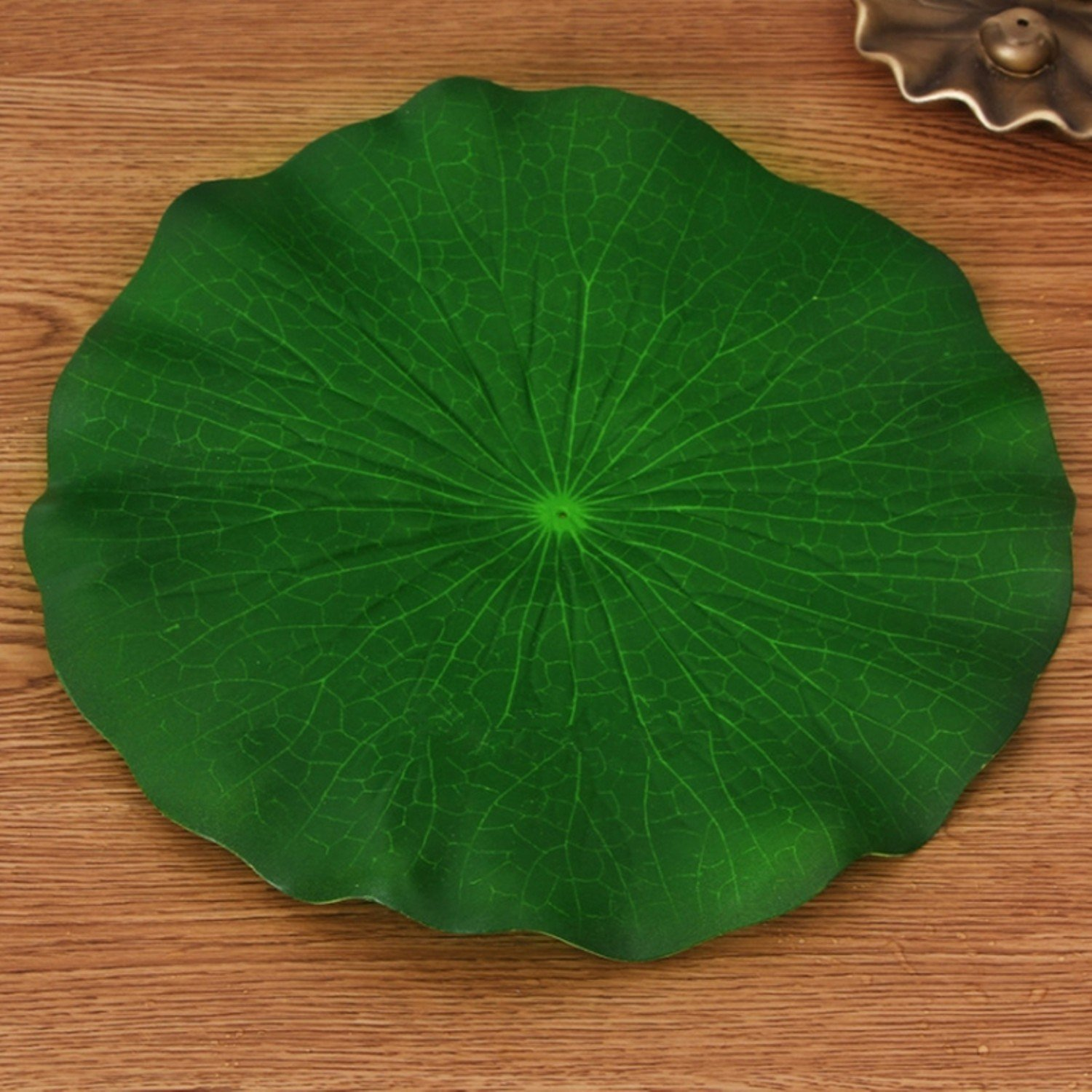 5Pcs-10-60-Cm-Real-Touch-Artificial-Lotus-Leaf-Foam-Flowers-Water-Lily-Floating-Pool-Plants-For-Wedding-Garden-EVA-Decoration-28Cm