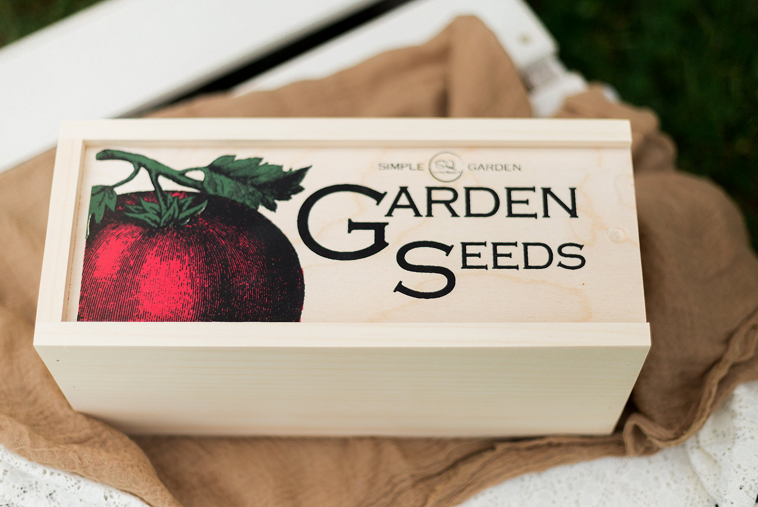 Seed Storage and Organizer Box for Your Garden Seed Packets - New - Tall Size -11.75 L 5.1 Wide 6.5 H - Expertly Crafted in The U.S.A. with Vintage Style Divider Cards to Organize Seeds by Simple Quality (Image #5)