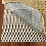 DoubleCheck Products Non Slip Rug Pad Size 8' X 10' For Hard Surface Floors Extra Strong Grip Thick Padding And