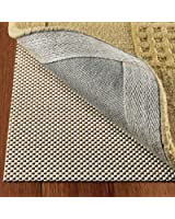 Non Slip Area Rug Pad For Hardwood Floors Size 2' X 8' Extra Strong Grip Thick Padding And
