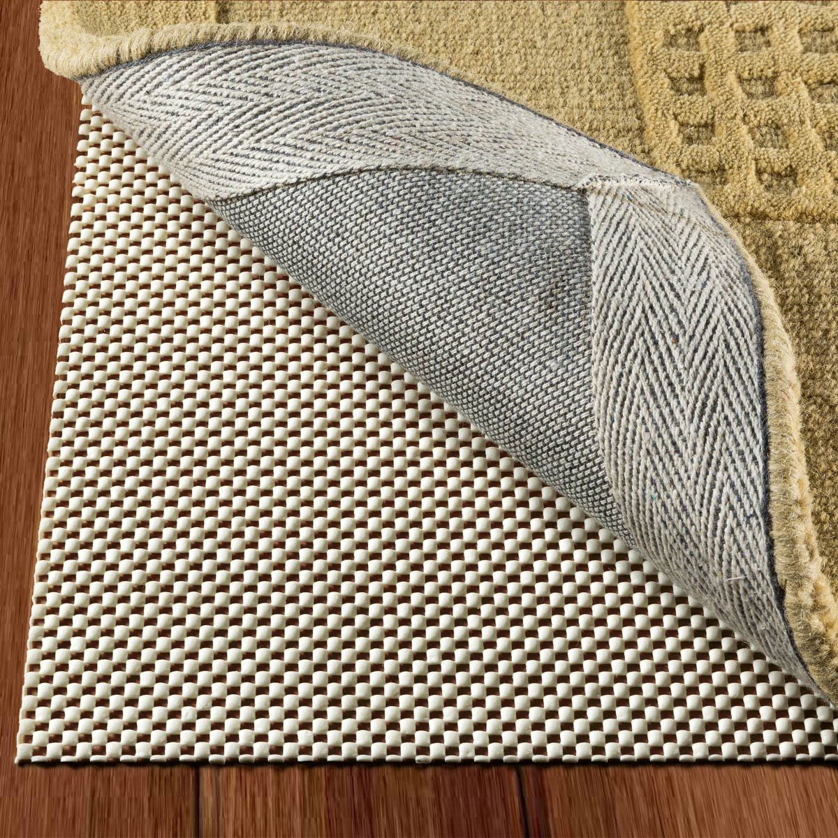 Non Slip Area Rug Pad Size 2 x 3 Extra Strong Grip Thick Padding And High Quality Double Check Products COMINHKPR110899