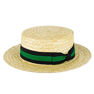 ZAKIRA Straw Boater Hat Handmade in Italy (Black-Red Band)  Amazon ... 2579aed7a1f