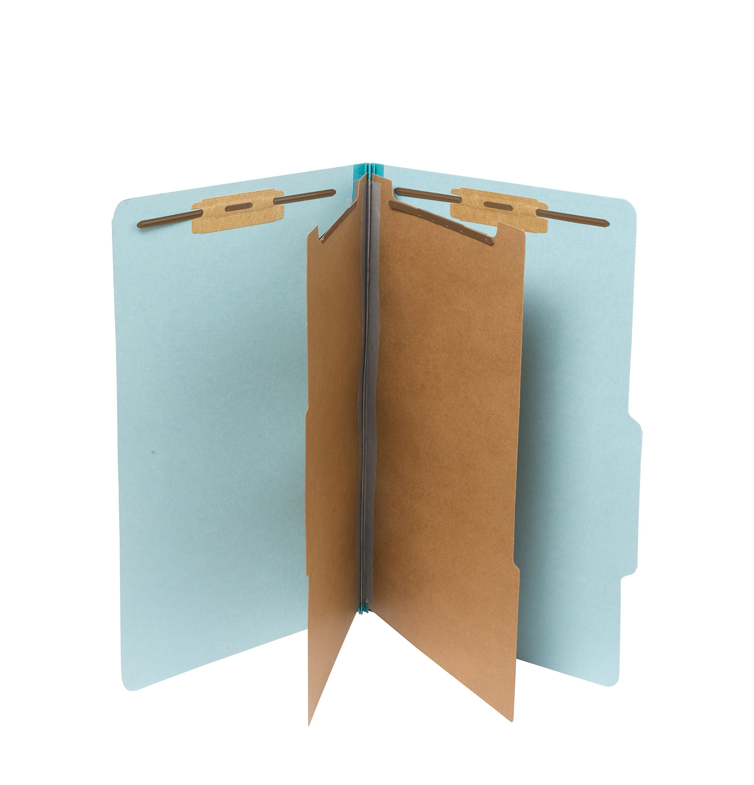 10 Blue Legal Size Classification Folders- 2 Divider-2'' Tyvek expansions- Durable 2 Prongs Designed to Organize Standard Law Client Files, Office Reports– Legal Size, 8 3/4 x 14 3/4, 10 Folders
