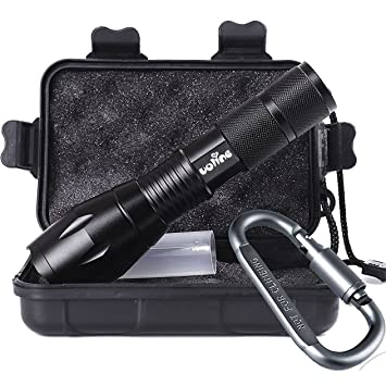 Tactical Portable LED Flashlight 1000 Lumens with 5 Mod...