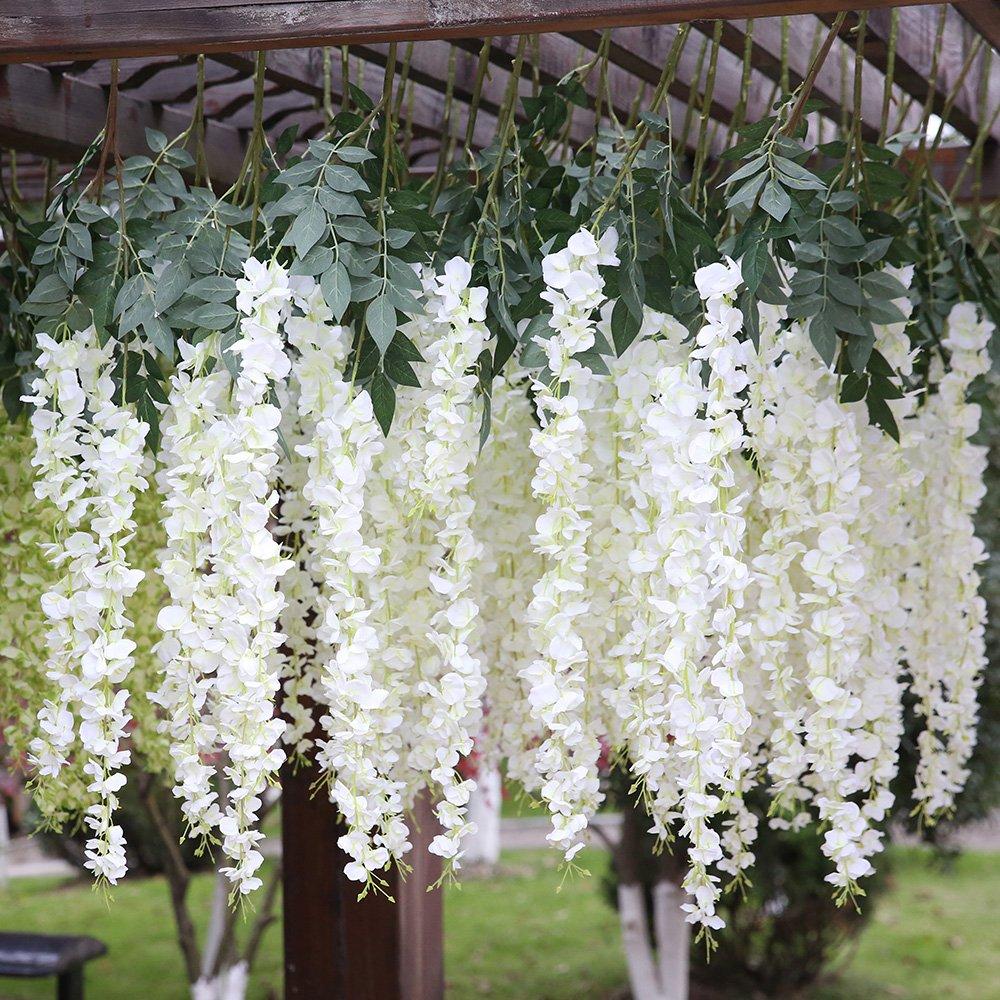 Luyue 318 Feet Artificial Silk Wisteria Vine Ratta Silk Hanging