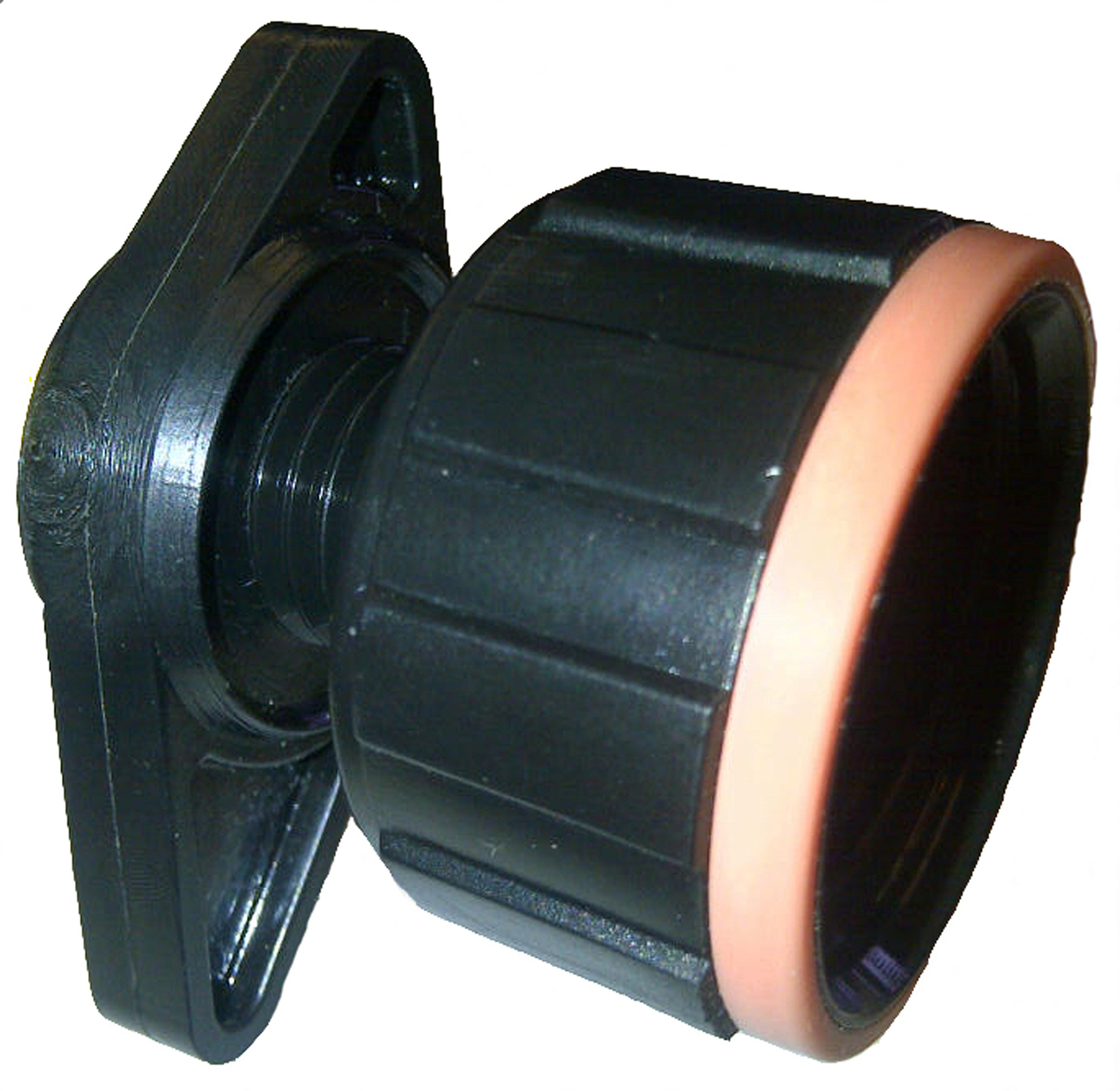 Peach Teats Easy Fit Threaded Adapter, Black