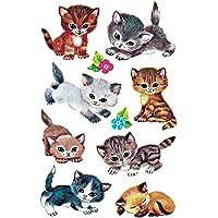 AVERY Zweckform 4346 - papieren stickers katten, stickers, kinderstickers, kinderverjaardag, cadeautje, gastgeschenken…