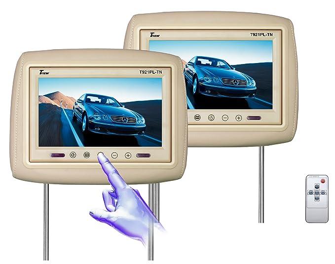 Amazoncom Tview TPLTN Inch Car Headrest Monitor Beige Car - Car show headrest monitors