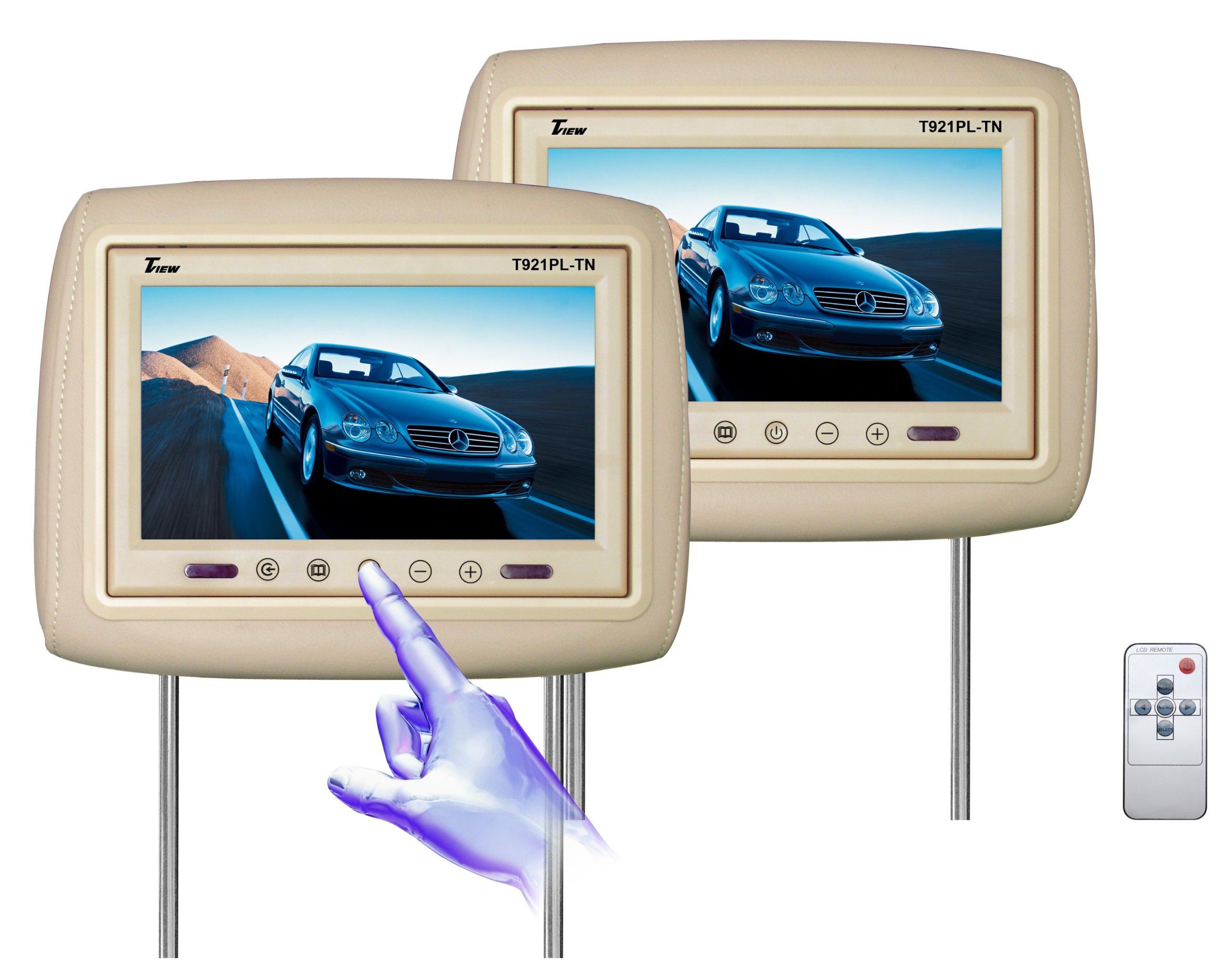 Tview T921PL-TN 9-Inch Car Headrest Monitor (Beige)