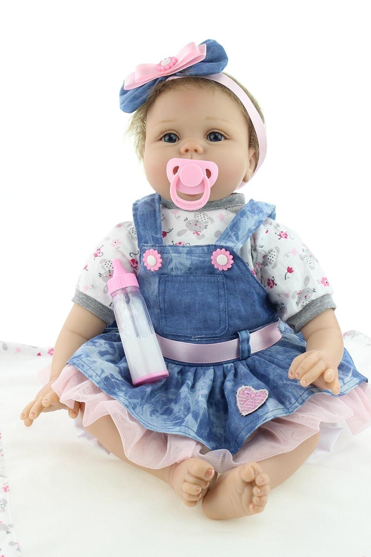 """productos creativos Nurturing muñecas 22 """"magnético chupete recién recién recién nacido muñeca bebé niñas cumpleaños regalos de Navidad vinilo silicona niñas regalo juguetes  Tienda 2018"""