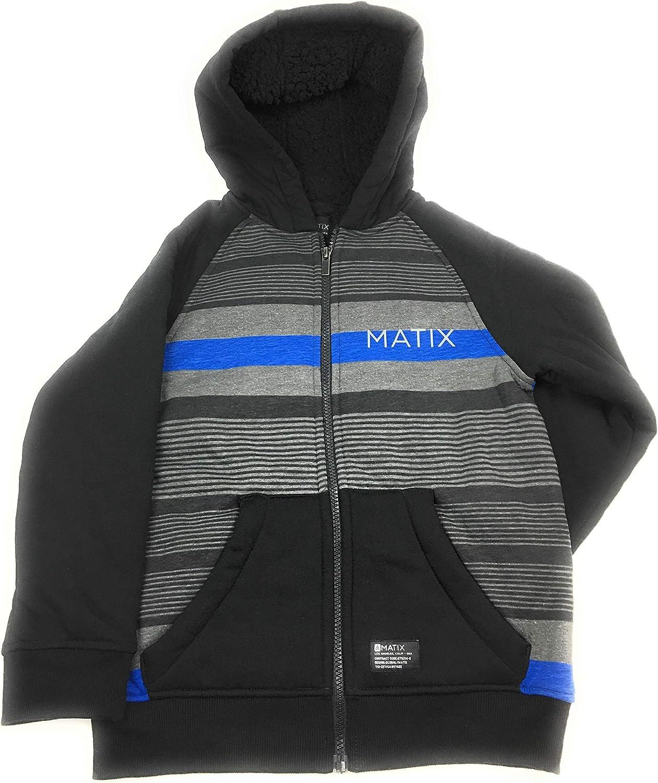 Matix Boys Zip-Up Fleece Hoodie BT Royal Combo, Small