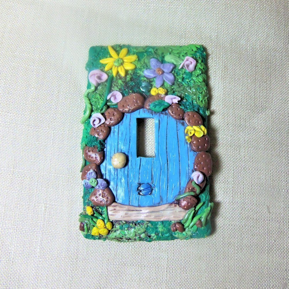 Amazoncom Polymer Clay Covered Fairy Door Switch Plate Cover Handmade