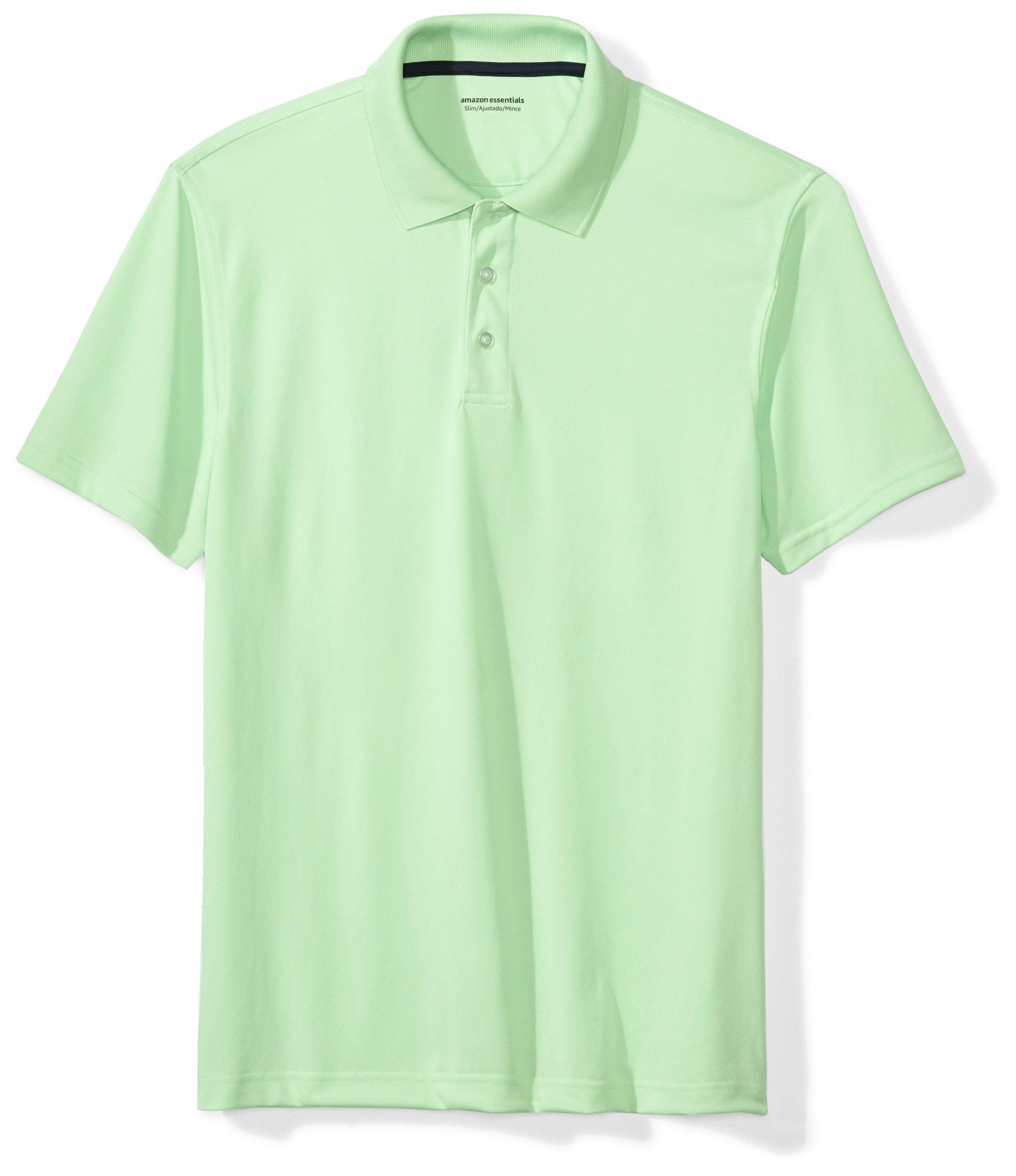 Amazon Essentials Men's Slim-Fit Quick-Dry Golf Polo Shirt, Lime Green, Medium by Amazon Essentials