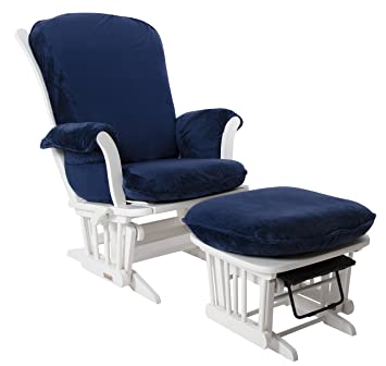 buy popular 831bf 148ef Luxe Basics Cover Me Glider Chair Cover (Chair NOT included), Navy Blue