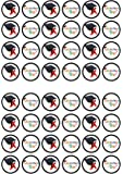 48 Graduation Edible PREMIUM THICKNESS SWEETENED VANILLA, Wafer Rice Paper Mini Cupcake Toppers, Cake Pops, Cookies