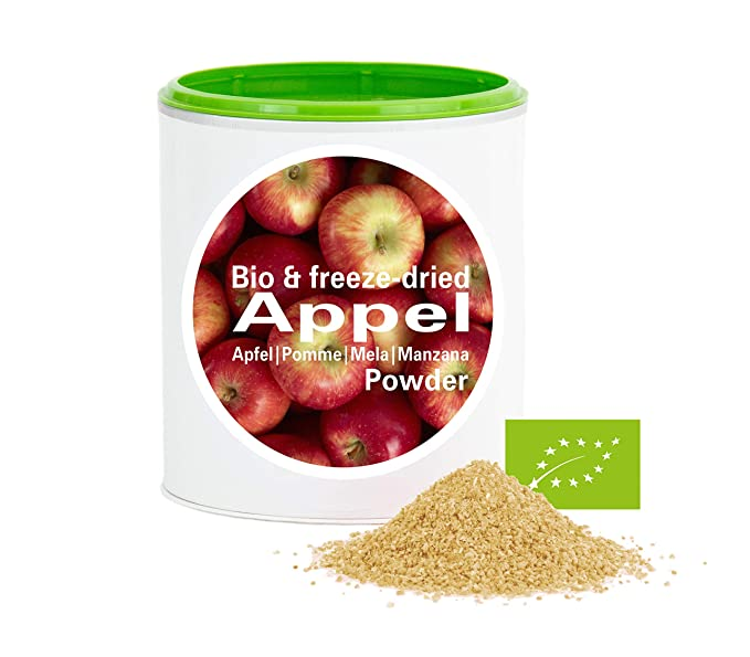 Manzana en Polvo - Liofilizado|biológico|vegano|crudo|pura fruta|no