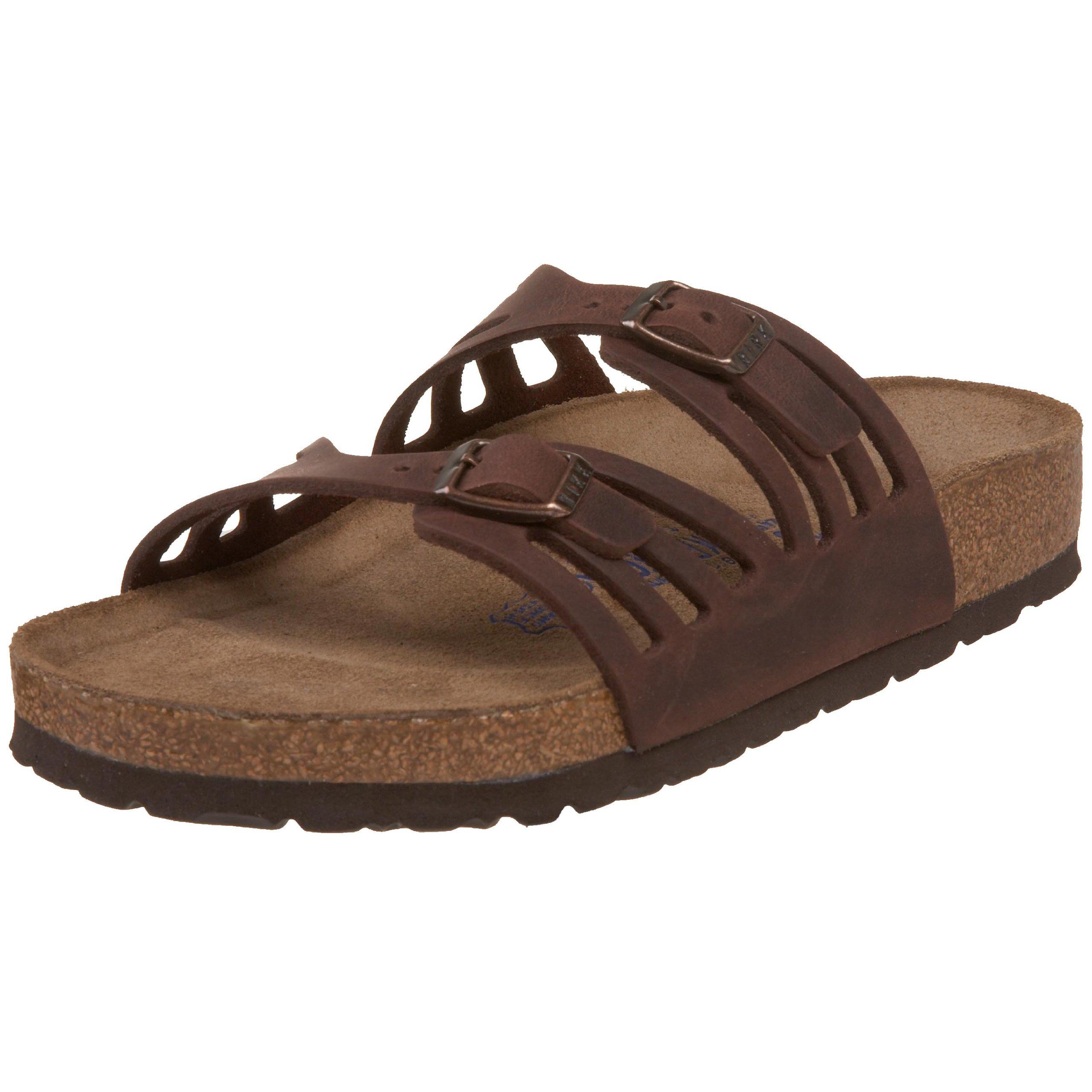Birkenstock Women's Granada Soft Footbed Sandal,Habana Oiled Leather,39 M EU by Birkenstock