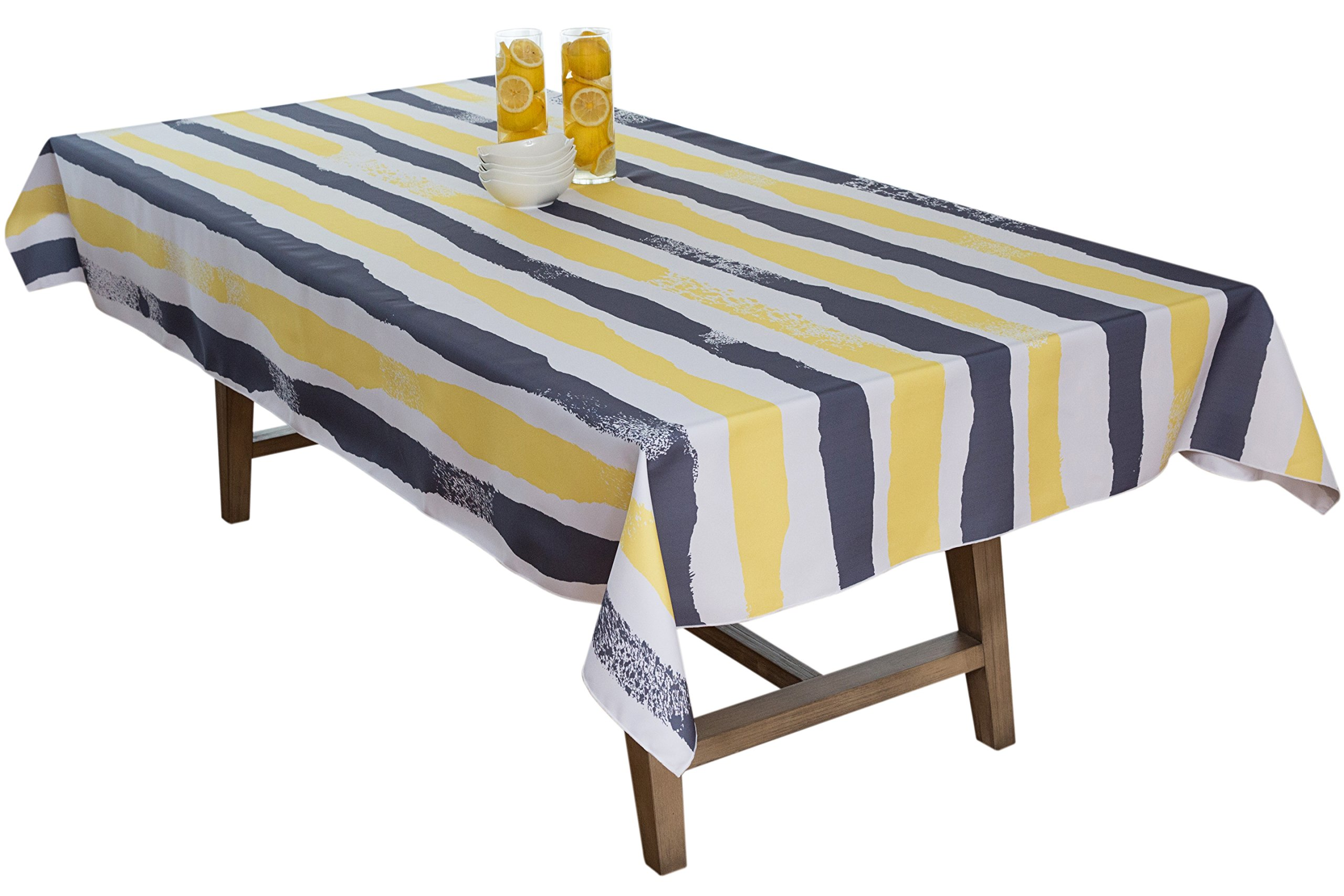 BottleCloth Multi Mod Premium Tablecloth - Superior Quality, Easy Clean, Spill Resistant, and Washable. Made from 100% Recycled Materials. Assorted colors and sizes. (60'' x 60'' Square-Steel Grey)