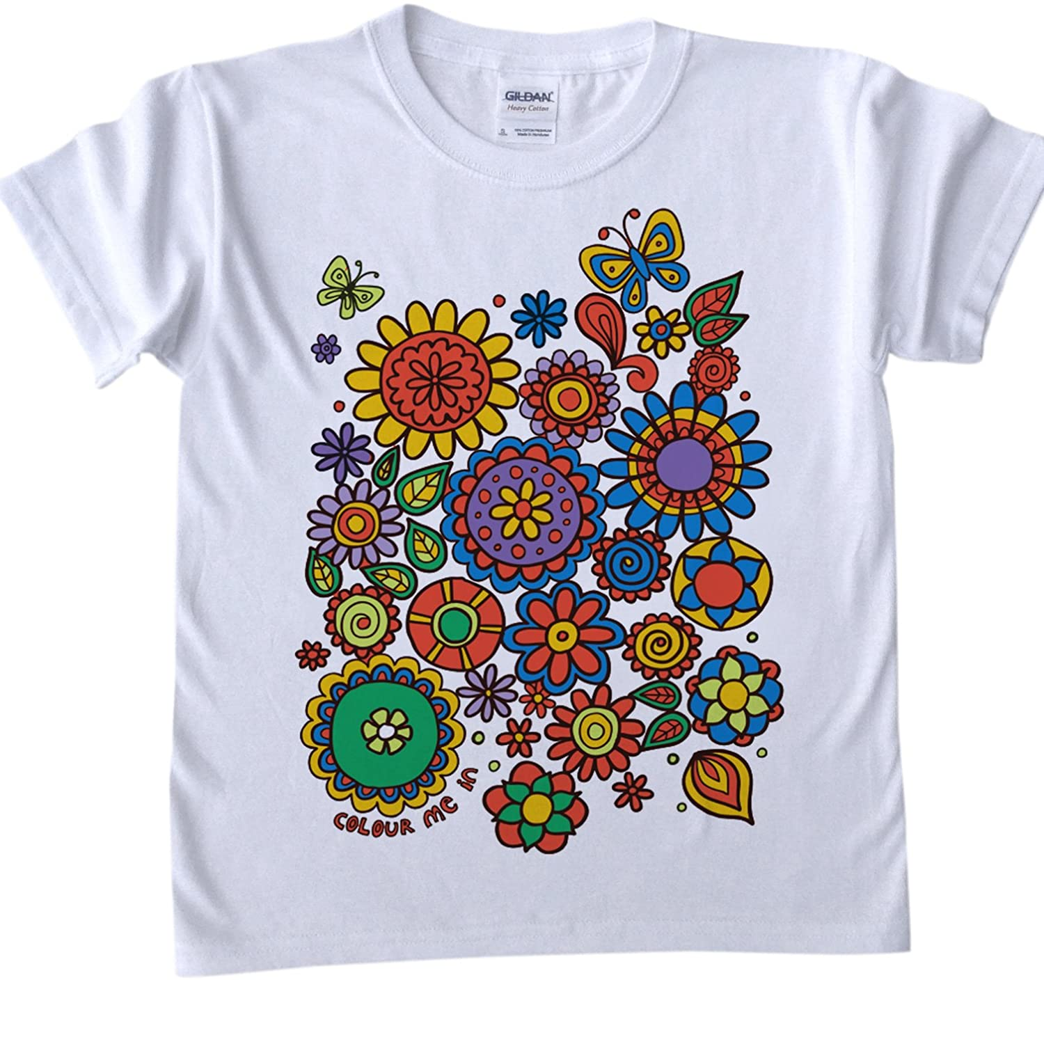 t shirts for kids to colour in printed outline kids craft