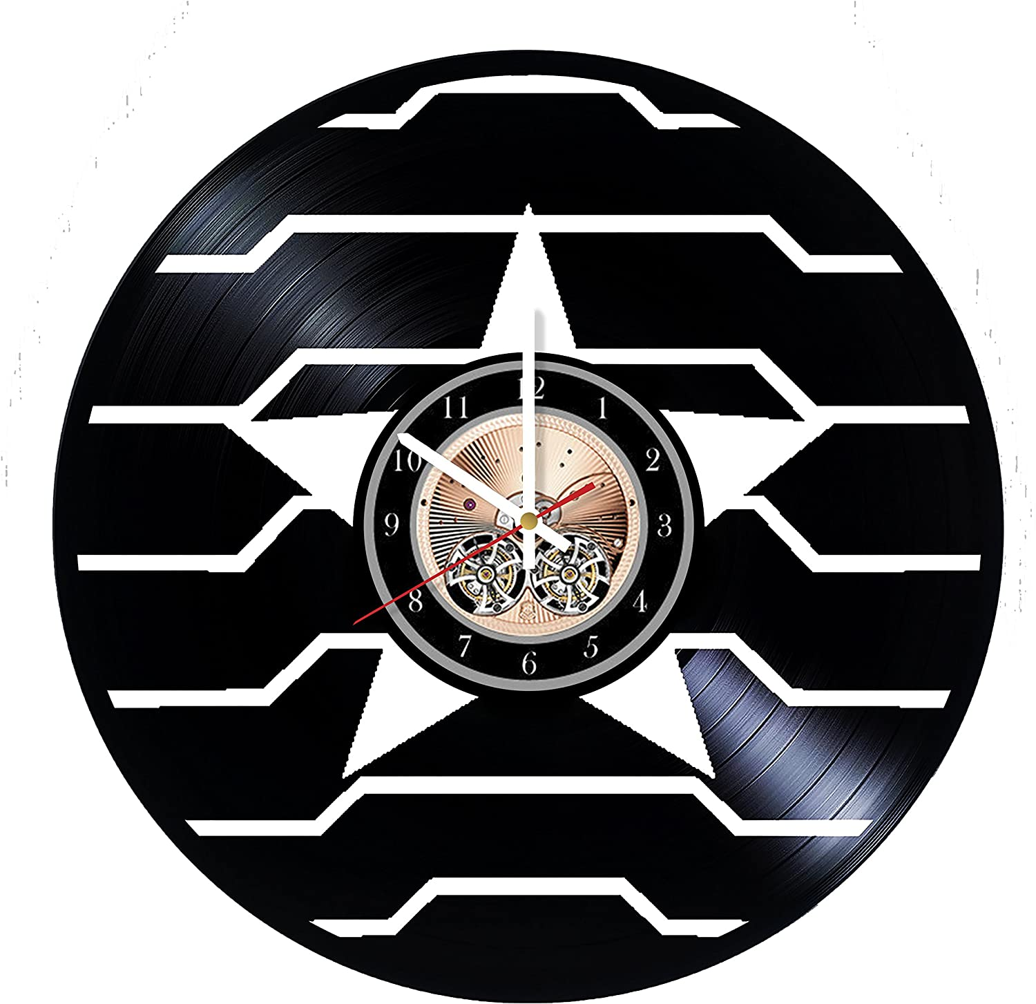 Amazon Com Wood Workshop Winter Soldier Logo Vinyl Record Wall Clock Get Unique Bedroom Or Living Room Wall Decor Gift Ideas For Him And Her Home Kitchen