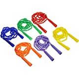 Sportime GradeStuff Link Jump Ropes - 7 feet - Set of 6 - Multiple Colors