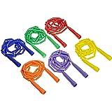 Sportime 1306550 GradeStuff Link Jump Ropes - 7 feet - Set of 6 - Multiple Colors