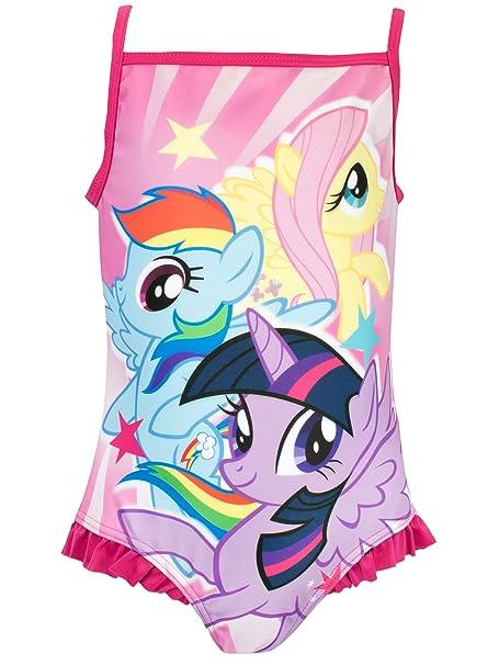 9bfb901ebcebc Amazon.com: My Little Pony Girls Rainbow Dash & Fluttershy Swimsuit:  Clothing