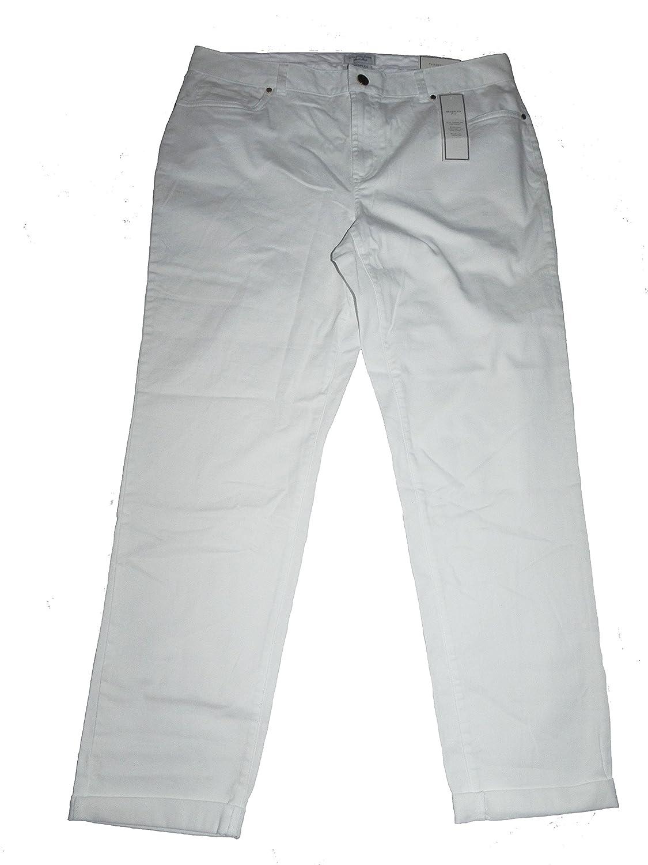 CHARTER CLUB PANT SHOP BRIGHT WHITE MODERN FIT PANTS 12