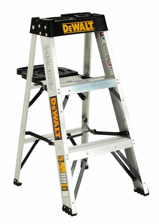 DeWalt DXL2010-03 3-Feet Aluminum Stepladder Type IA with 300-Pound Duty Rating, 3-Feet by DEWALT B008DRMQW2   3 Feet