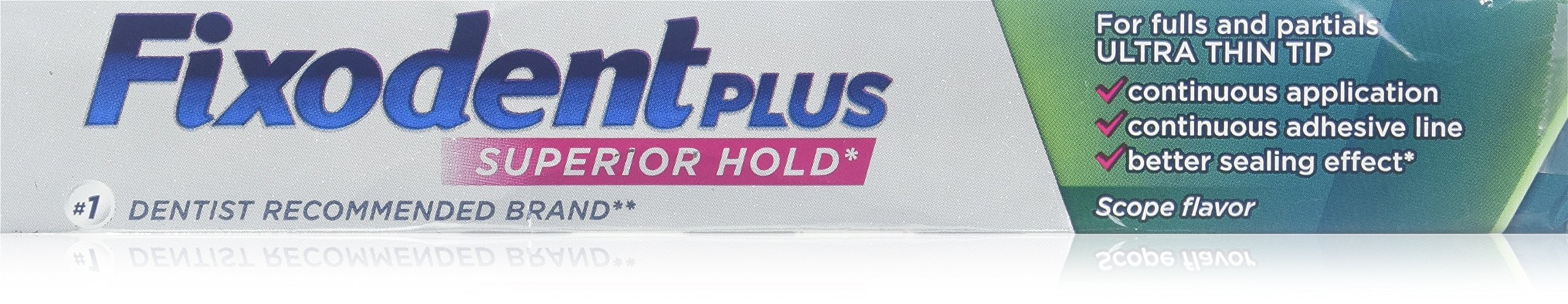 Fixodent Plus Scope Denture Adhesive Cream 2 Oz (Pack of 4)