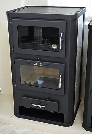 Estufa de leña para estufa, estufa, cocina, combustible, quemador de leña, 12/17 kW, BImSchV 2: Amazon.es: Bricolaje y herramientas