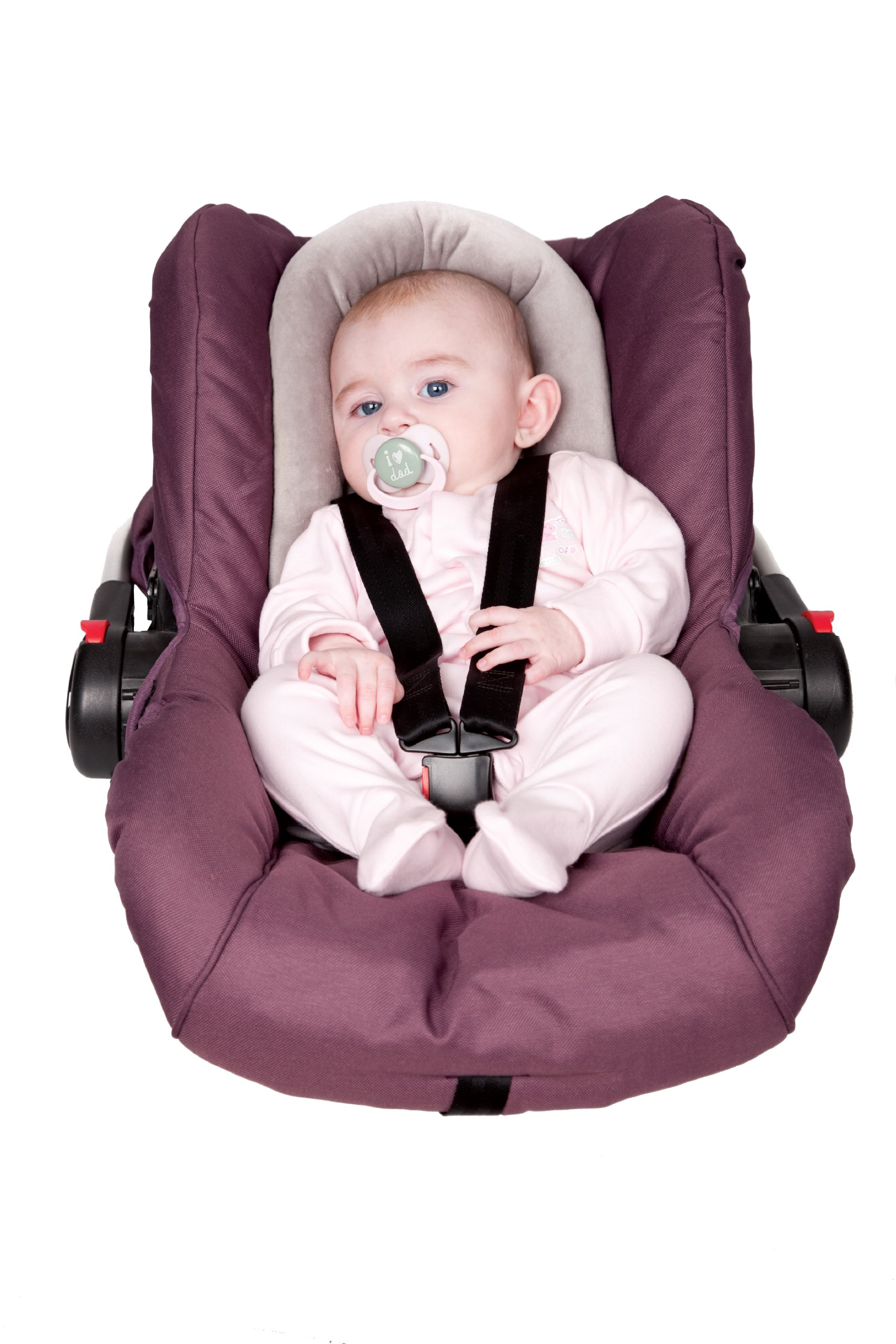 Clevamama Baby Pillow for Car Seat - Head and Neck Support with Breathable Foam