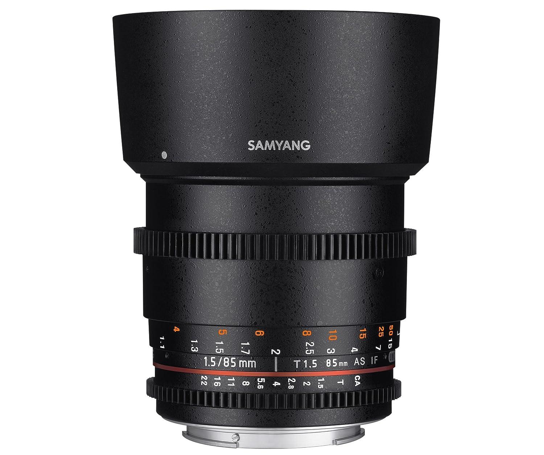 SAMYANG 動画用単焦点中望遠レンズ VDSLR 85mm T1.5 ソニー αA用 フルサイズ対応   B00H34G28K