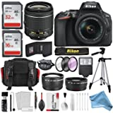 Nikon D5600 DSLR Camera And 18-55mm Lens Kit W/ Total of 48 GB Memory Card + Telephoto & Wideangle Lens & DigitalAndMore Free Deluxe Accessory Kit Bundle (Black Friday / Cyber Monday Deal!)