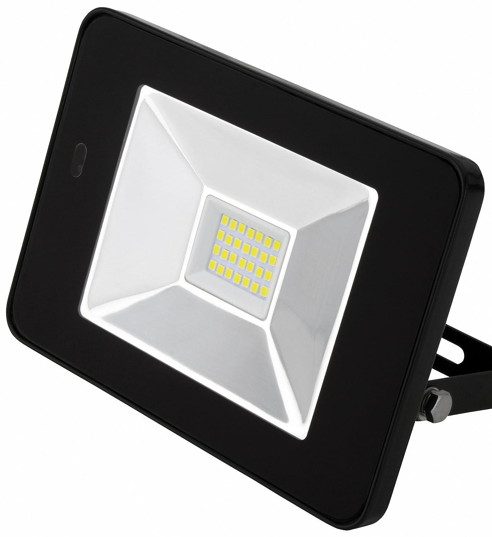 AdLuminis LED Fluter mit Integriertem Bewegungsmelder und Fernbedienung, 10W 20W 30W Flutlicht-Strahler, Energieklasse A++, LED-Strahler für außen und innen (30w schwarz) [Energieklasse A++]
