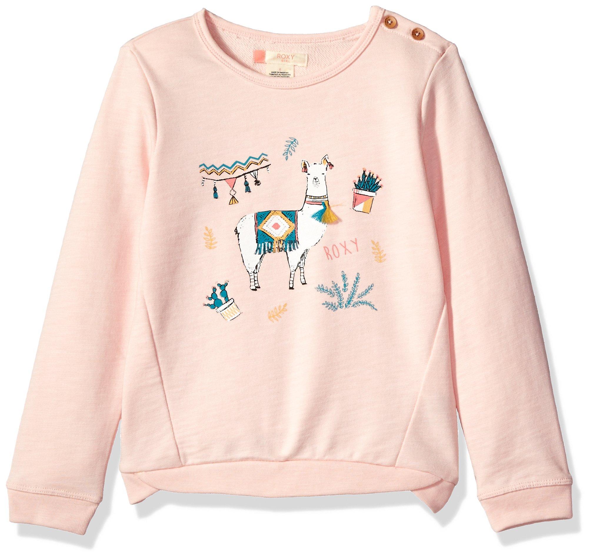 Roxy Little Girls' Palm's Valley Lami Lama Sweater, Rose Quartz, 2T