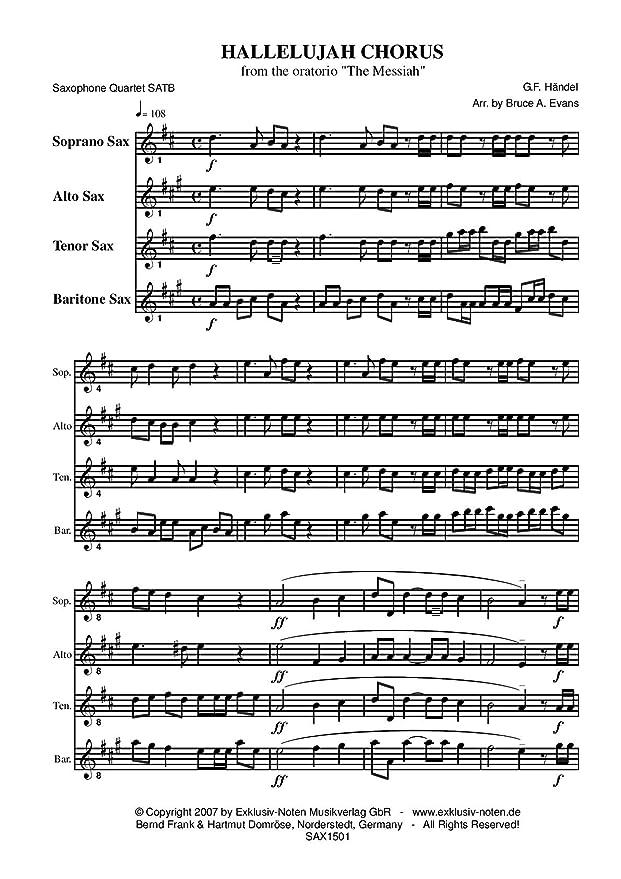 Hallelujah : Georg Friedrich Händel: Amazon.de: Musikinstrumente
