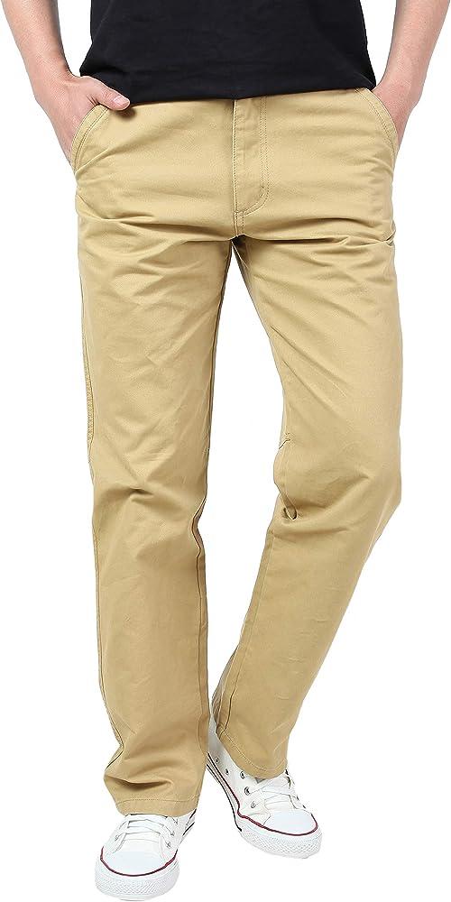 Gmardar Casual formal Chino algodón pantalones pantalones para ...