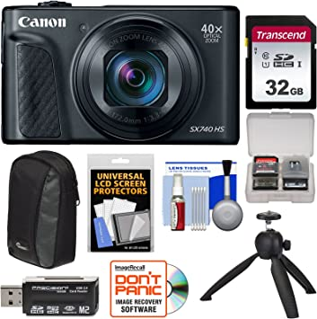 Amazon Com Canon Powershot Sx740 Hs Wi Fi 4k Digital Camera Black With 32gb Card Case Tripod Kit Camera Photo
