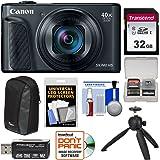 Canon PowerShot SX740 HS Wi-Fi 4K Digital Camera (Black) with 32GB Card + Case + Tripod + Kit