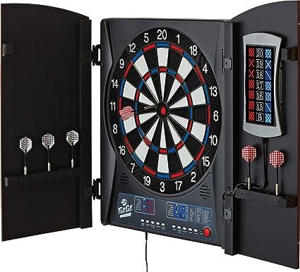 amazon com fat cat mercury electronic dartboard built in cabinet rh amazon com arachnid electronic dart board with cabinet electronic dart board cabinets for sale