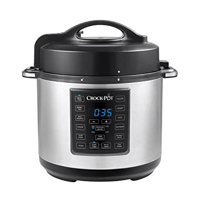 51ddc959337a Amazon.com   Crock-Pot 6-Quart 8-in-1 Multi-Use Express Crock Programmable Pressure  Cooker, Slow Cooker, Sauté & Steamer   Stainless Steel (SCCPPC600-V1): ...