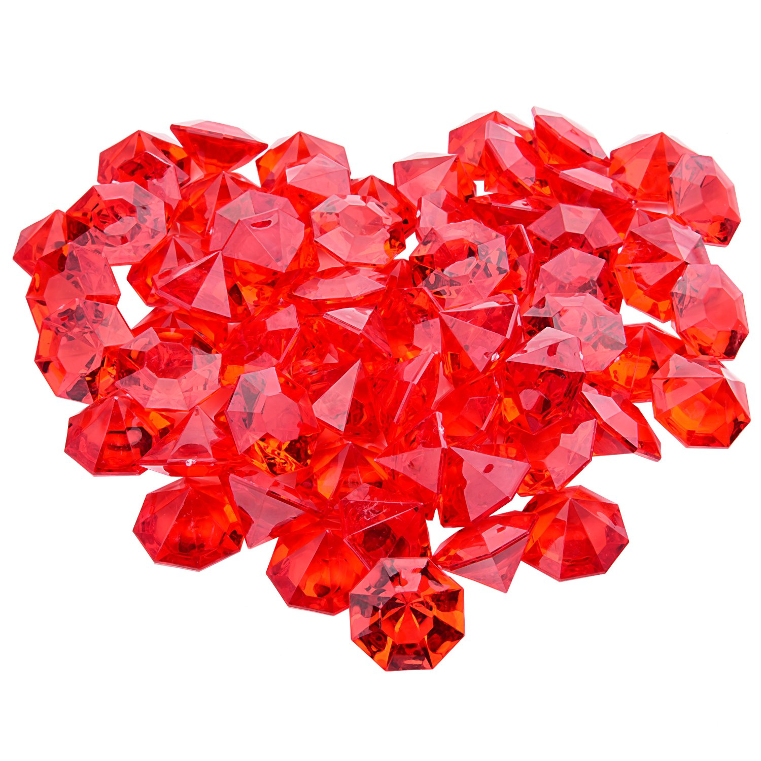 Rose Bridal Shower Livder 66 Pieces Large Clear Acrylic Diamonds Gems for Table Centerpiece Wedding Party Decorations 32 x 24 mm