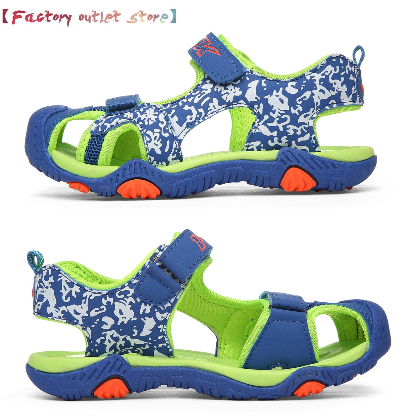 WETIKE Kids Sandals Boys Athletic Sandals Girls Outdoor Water Shoes Summer Beach Closed-Toe Sport Sandals