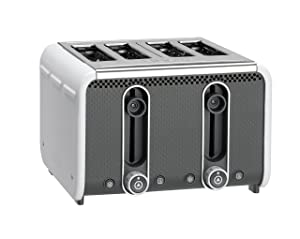 Dualit 46432 Studio 4-Slice Toaster, White/Grey